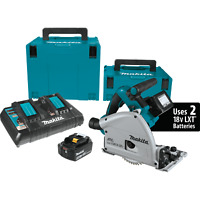 "Makita XPS01PTJ 18V X2 (36V) Brushless Cordless 6‑1/2"" Plunge  Circular Saw Kit"