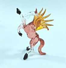 Fantasy Pegasus Hand Blown Art Color Glass Figurine Animal Miniature Collectible
