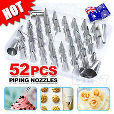 52pcs Cream Icing Piping Nozzles Set Kit Pastry Tips DIY Cake Decorating Tool AU