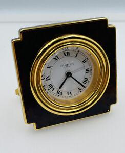 Cartier Paris Vintage Authentic Tortoise Color Enamel Alarm Clock