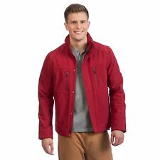 NEW Kenneth Cole Reaction Men's Cranberry Red XLarge Soft Shell Full Zip Jacket