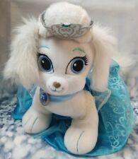 "Build A Bear Puppy Girl 14"" Cinderella White Blue Dress Blue Eyes Crown Bow B53"
