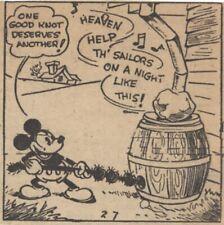 Mickey Mouse Daily Strip - Feb 7, 1931 - VERY RARE Early Floyd Gottfredson art