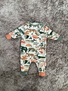 NEXT BABY BOYS 0-3 MONTHS ANIMALS PRINT ROMPER, OUTFIT COMBINE POST