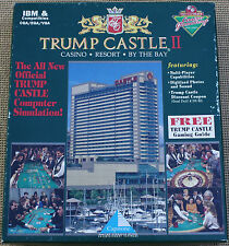 DONALD TRUMP CASTLE II CASINO GAME IBM PC W DOS 2.1 / HIGHER  3.5 DISK COMPLETE