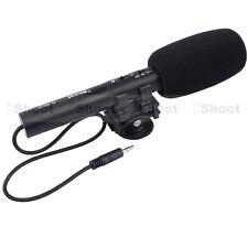 Pro DC/DV Estéreo Micrófono Mic para Cámara Nikon D7100 D7000 D5300 D3300 D3200