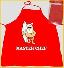 AUSSIE SANTA Master Chef RED APRON Christmas Cooking Party Home School Gift