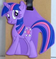Luggage Tag Silicone Easy to Find Bright Colorful and Fun Little Pony Purple