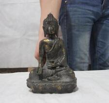 Chinese Buddhism bronze Seat Lotus Shakyamuni Sakyamuni Tathagata Buddha Statue