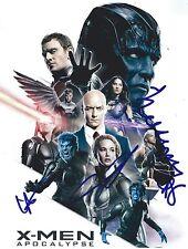 James McAvoy, Evan Peters, Lana Condor & Alexandra Shipp signed Apocalypse Photo