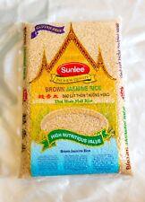 Brown Jasmine Rice Brown Rice Gluten Free Premium Quality By Sunlee 5 lbs /bag