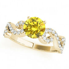 0.83 Ct Yellow Canary Diamond Solitaire Wedding Ring Stunning 14k Yellow Gold
