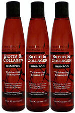 3 x 300ml Biotin & Collagen Thickening Shampoo - Superfood For Your Hair