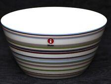 IITTALA ORIGO BEIGE Striped Vitro Porcelain Soup Dessert Bow
