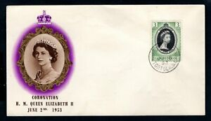 Leeward Islands - 1953 QE2 Coronation Illustrated First Day Cover