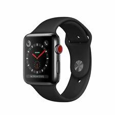 Apple Watch Series 3 42mm Space Gray Aluminium Black Sport Bands GPS Cellular