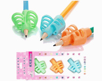 3Pcs/Set Rubber Pencil Grips Pencil Holder Writing Aid Grip Posture Corrector