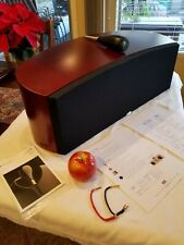 B&W Htm1 Home Theater Ctr Channel Speaker Mint Cond. In a Deep Red Cherrywood