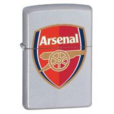 Zippo Arsenal FC / Gunners Windproof Lighter - Satin Chrome - 205AFC + Gift Box
