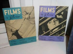 2 X VINTAGE FILMS IN REVIEW MAGAZINES JAN/MARCH 1954 Anna Magnani