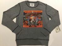 TRUE RELIGION MEN PROPERTY CREW NECK PULLOVER HEATHER GREY MHBU416XS1 L $168