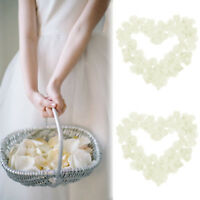 100 Wedding Silk Rose Petals Bridal Flowergirl Basket Fake Decoratio Flower M2P7