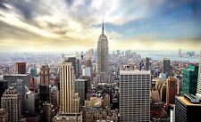 New York wallpaper mural 254x184cm photo wall for teenagers bedroom Blue Sky