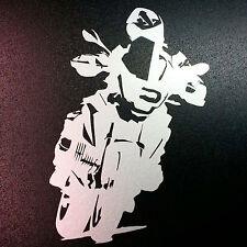 Auto BMW GS Aufkleber Motorradfahrer silber Biker Motorrad Enduro Tourer Sticker
