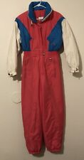 12 Womens VTG BOGNER Ski Gear Suit Jumpsuit Pink Blue White Sub Zero One Piece