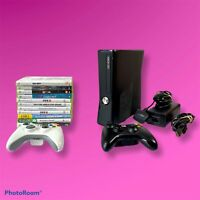 XBOX 360 S Slim 250gb Console 11 Games 2 Controllers Hdmi Bundle
