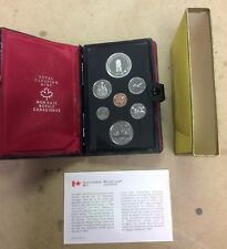 1977 RCM Canadian mint Double Dollar Proof Coin Set Complete W/ Box Canada