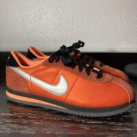 Rare Nike Cortez Basic Premium Orange Mens Retro Shoes - 313605-801 Size 9
