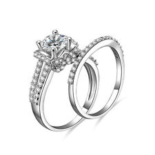 Wedding Ring Set Size 3-12 Ss1827 Women'S .925 Sterling Silver Cubic Zirconia