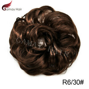 Curly Hair Bun Messy Rose Piece Updo Scrunchie Natural As Human Hair Extensions