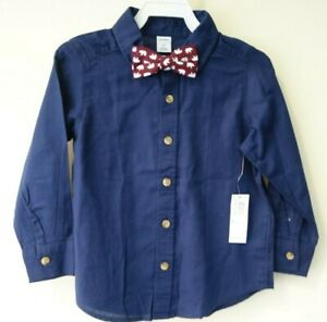 NWT Old Navy Shirt With Removable Bow Tie Boy's Size 3T