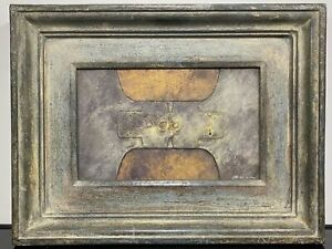 VTG Signed FELIPE R. LUQUE Abstract Contemporary Mixed Media Artwork Paper
