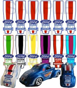 1/64  OLDIE FORD WATER-SLIDE DECALS FOR HOT WHEELS, MATCHBOX, SLOT CAR: