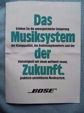 BOSE PROSPEKT aus 4/90,Das Musiksystem der Zukunft,LIFESTYLE MUSIC CENTER,8 SEIT