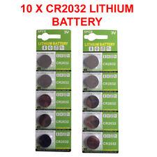 10 x originale CR2032 3 V LITIO BATTERIE pulsante/MONETA cellule Batterie Lunga Scadenza
