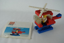Lego Classic People 253 Helicopter & pilot with instructions no box 1975