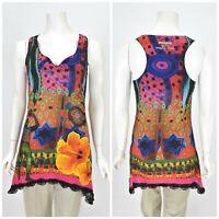 Womens Desigual Cirque Du Soleil Tunic Blouse Shirt Multicolor Floral Size M