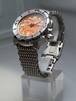 Original SHARK MESH watch bracelet (WITH links) 20mm fits SEIKO Orange Monster