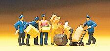 Preiser 10016 H0, Güterbodenpersonal, 5 Figuren + Zubehör, handbemalt, Neu