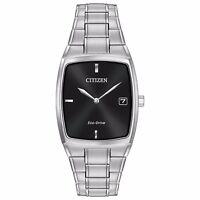 Citizen Eco-Drive Men's AU1070-58E Rectangle Case Silver Tone 44mm Watch