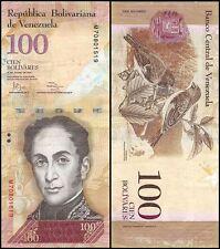 Venezuela 100 Bolivares, 2012, P-93e, Circulated, Used