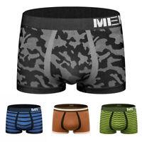 Men's Camouflage Boxer Shorts Trunks  Seamless Underwear Cotton Briefs