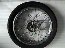 3. Yamaha Sr 125 10 F Cerchione Ant. Ruota Ant. 1,6 x 17 Pollici + Pneumatici