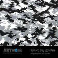 Wassertransferdruck Folie WTD Digi Camo Grey 1m x 50cm Breite