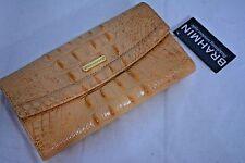 NWT - Brahmin Soft Checkbook Wallet in Dolce Melbourne Pale Orange Color Leather