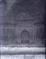 France Cathedral Holder Church to Identify, Negative Photo Stereo Plate Glass